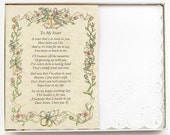 Personalized From the Bride to her Sister Wedding Handkerchief - BH105