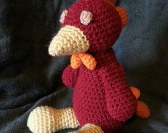 Crochet amigurumi rooster chicken