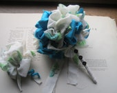 Handmade Vintage Fabric Flower Bouquet
