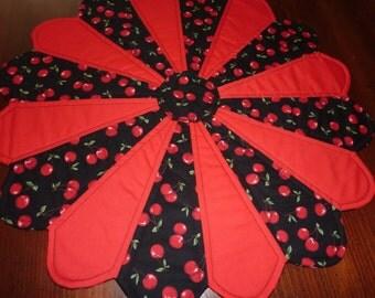 Cherries Dresden Table Topper