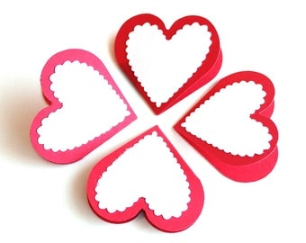 Valentine Love Notes Set of 10 Small heart
