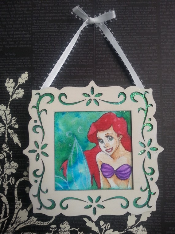 Ariel Framed ORIGINAL The Little Mermaid Wall Ornament