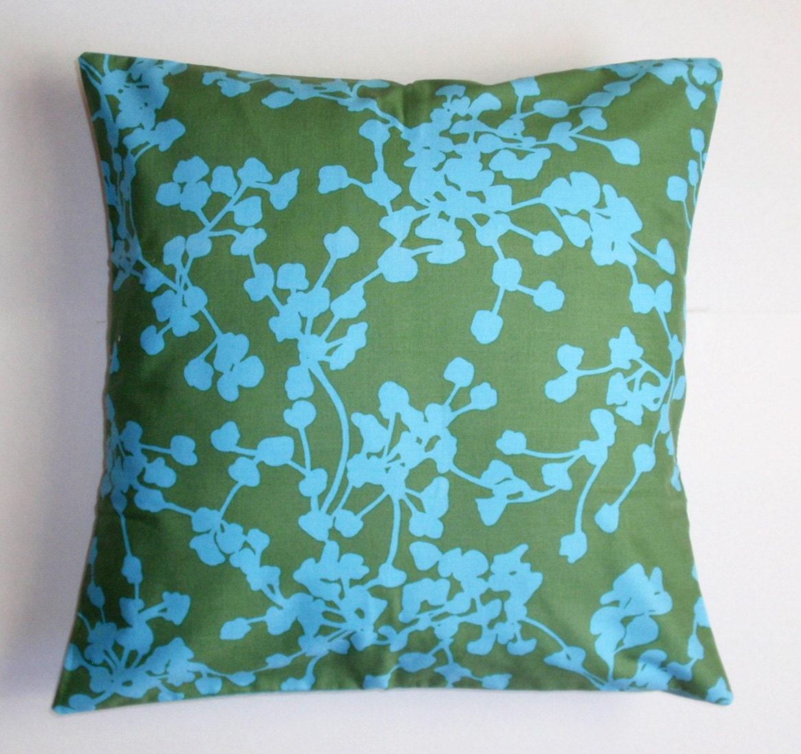 Throw Pillow Cover Pretty Handmade Sea Green Cushion Cover