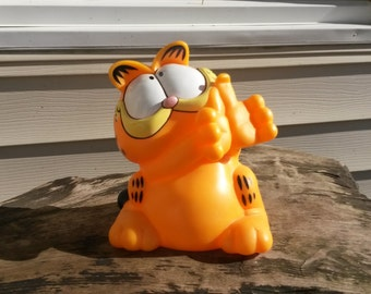 Vintage Garfield Telephone Base Hard Plastic Resin