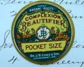 Gorgeous Antique Vintage Beautifer Label