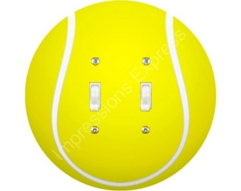 Tennis Ball Double Toggle Switch Plate Cover