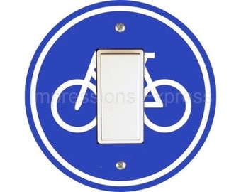 Bicycle Sign Decora Rocker Switch Plate Cover