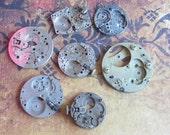 Vintage Antique Watch movements parts Steampunk - Scrapbooking e75