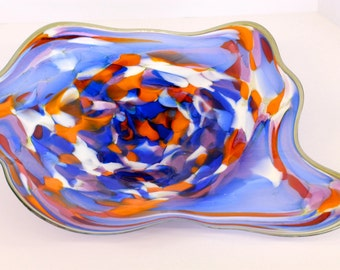 Wall Art Glass Blown Platter 262