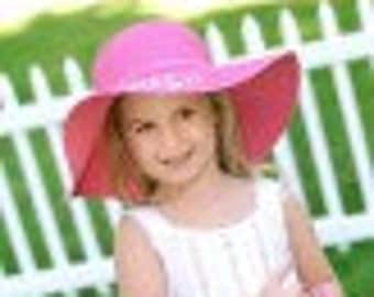 Personalized Child Hot Pink Floppy Hat