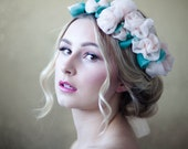 Blush Chiffon Rose Crown