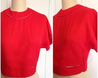 Red Bobbie Brooks Cropped Jacket