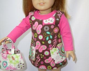 American girl doll jumper, three pieces
