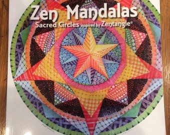 SALE ! Zentangle Book - Zen Mandalas Sacred Circles inspired by Zentangle® was 18.95 now 12.00