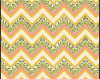 Art Gallery LillyBelle Fabric Vintage Fence Honey Half Yard