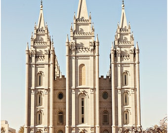 Salt Lake City LDS Temple Utah Fine Art Canvas wrap -Mormon