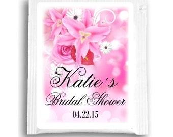 25 Floral Bridal Shower Tea Bag Favors, Custom Tea Bags, Customized Tea Favors for Wedding Shower Tea Favors, Spring Flowers Bridal Shower