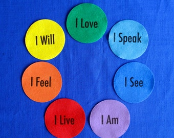 Chakra's toning in English Set of  7
