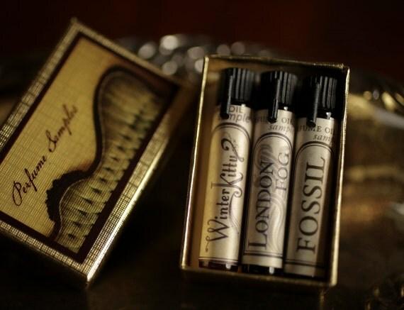 Natural Perfume Oil Samples - Mini Mix-and-Match Set of 3 - For Strange Women perfume gift set - organic, botanical, artisan scents