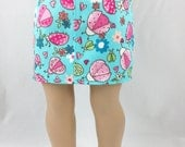 18 Inch Doll Clothes Turquoise Print Twill Straight Mini Skirt Pink and Green Ladybugs Girls Toy