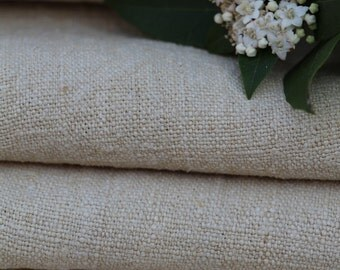 C 43 antique handloomed 8.088yards PALE CREAMY cushion upholstery curtains LAUNDERED