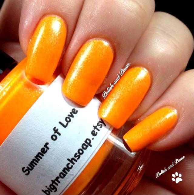Fluorescent Neon Nail Polish: Neon Orange Nail Polish Fluorescent Summer Of