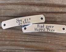 Personalized Shoe Tag Personalized Running Shoe Tags Marathon Motivational Inspirational Shoe Tags You Can Do This - Find Your Happy Pace