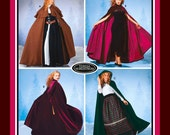 ROMANTIC DESIGNER CAPES-Sewing Pattern-Three Dashing Styles-Double Capelet-Hood with Tassel-Contrast Lining-Uncut-Size Petite-Large-Rare
