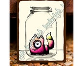 Moxie (Mason Jar Critter Art)