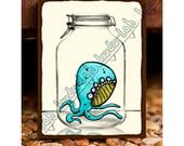 Quadropus (Mason Jar Critter Art)