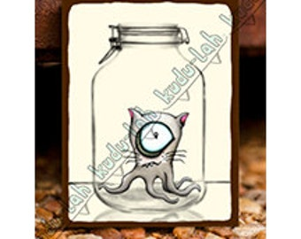 Cat-o-Pus (Mason Jar Critter Art)