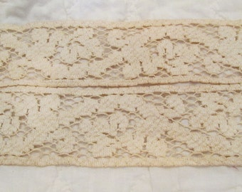 "Vintage Lace 29 inches  x 2 3/8"" wide"