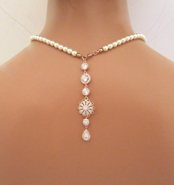 Rose Gold Backdrop Necklace
