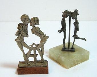 Italian Pewter Figurines, Pelto, Lovers