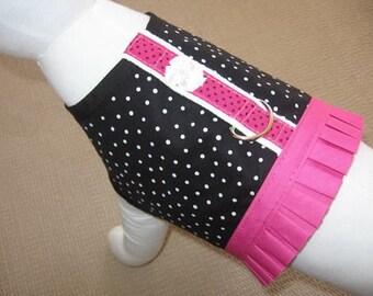 Polka Dot Dog Harness Vest
