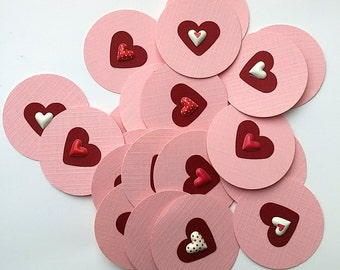 Heart of hearts Valentine's Day Pink and Red Die Cuts