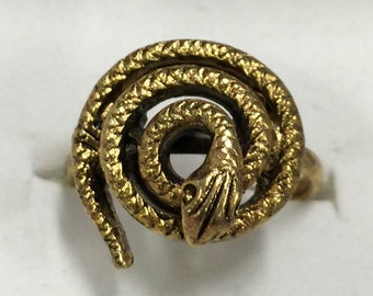 1956-1969 Comic Book Premium COILED SNAKE Prize Ring - Adjustable