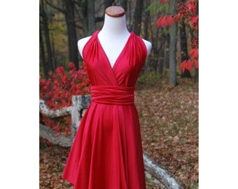 USA, SALE   Ready to Go, convertible dress, infinity dress, Red dress