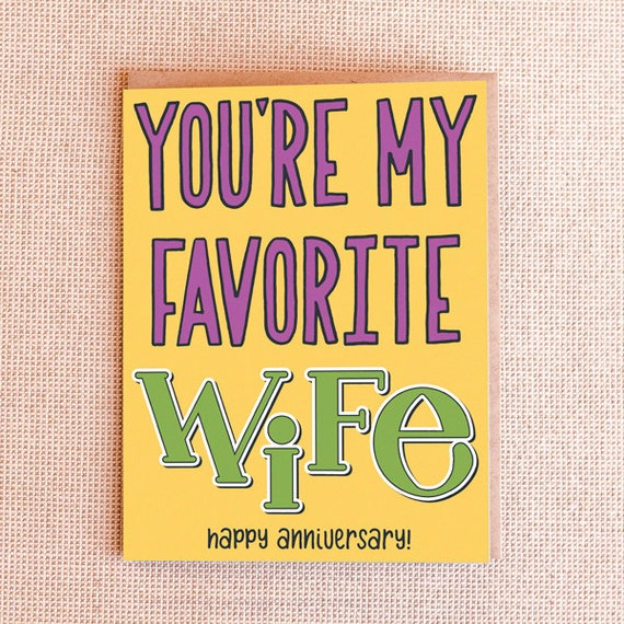 Funny Anniversary Card - Favorite Husband