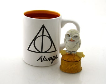 Harry Potter (R)  Deathly Hallows (R)  Inspired Mug, Always with gryffindor colors