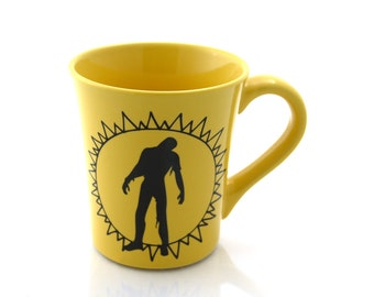 The walking dead - walking on sunshine - zombie mug -  funny mug -  large mug - katrina and the waves - 80s music