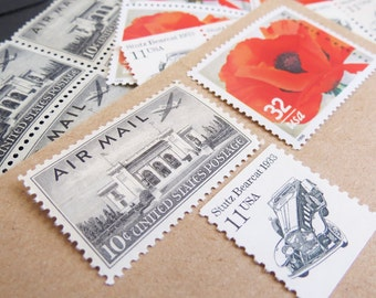 Eternal Love .. UNused Vintage Postage Stamps  .. post 5 letters