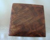 Handmade mini jewelry box from reclaimed, exotic woods