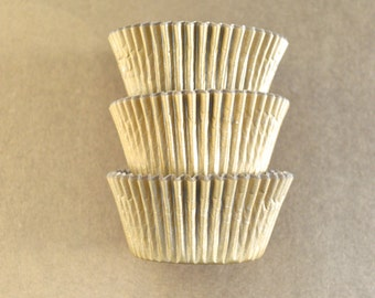 Gold Cupcake Liners (50)