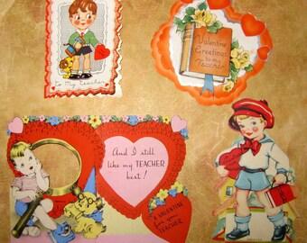 Vintage 1940's Teacher Valentines