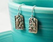 Silver Lovebird Earrings - Exotic Antique Bird Earrings - Artisan Made From Eco-Friendly Silver