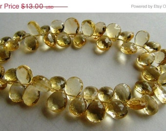 35% OFF Citrine faceted pear briolette