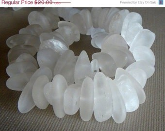 35% OFF Frosted Rock crystal quartz nugget- 10X15mm- 8 inch