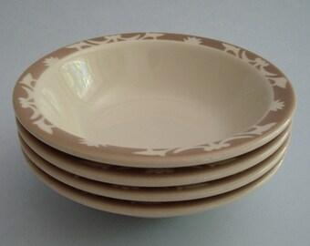 4 Vintage Syracuse China Restaurant Ware Bowls Airbrushed Border Mid Century