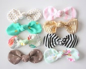 Spring Fabric Knot Bows- You choose COLOR & STYLE- Set of 2
